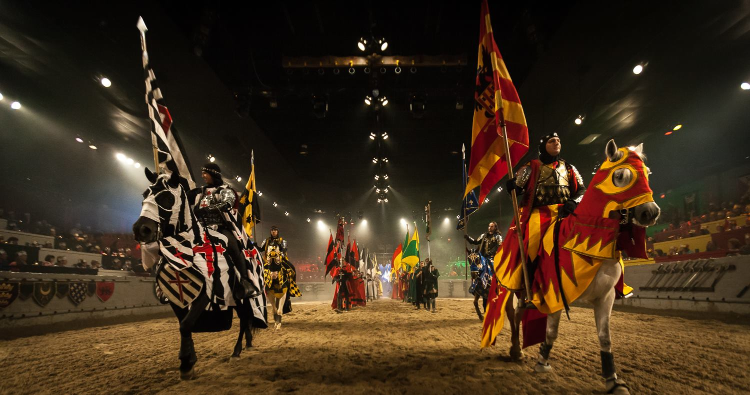 Chivalrous knights, rugged castles, beautiful princesses, and timeless stories are waiting for you at Medieval Times Dinner and Tournament in Buena Park! Spend an evening as a noble guest at the castle as you watch an action-packed medieval tournament and enjoy the sensational four-course royal feast/5.