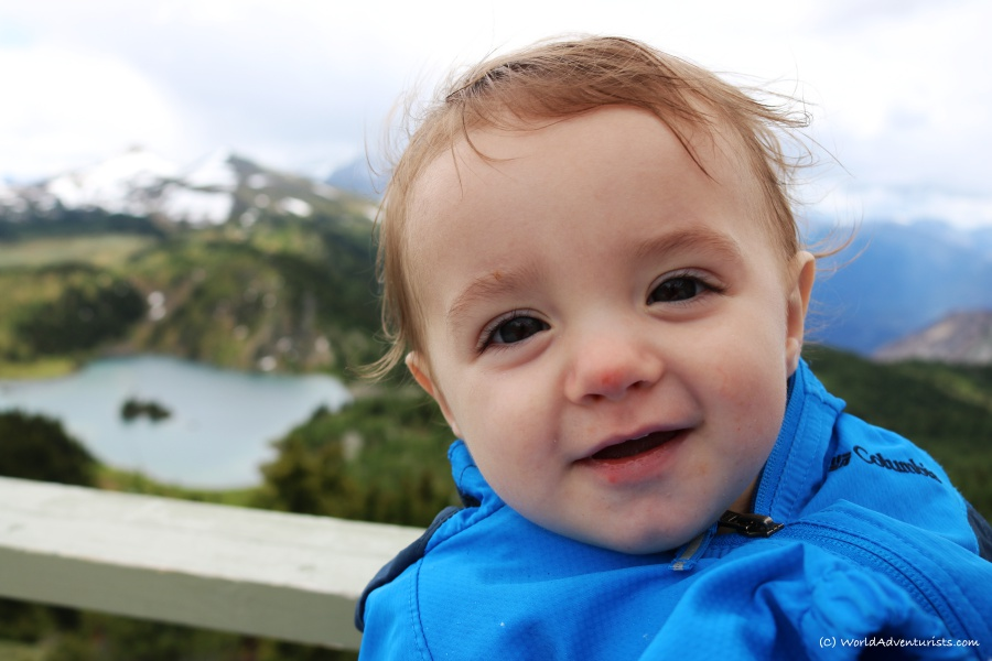 Cute little boy at Sunshine Meadows In Banff