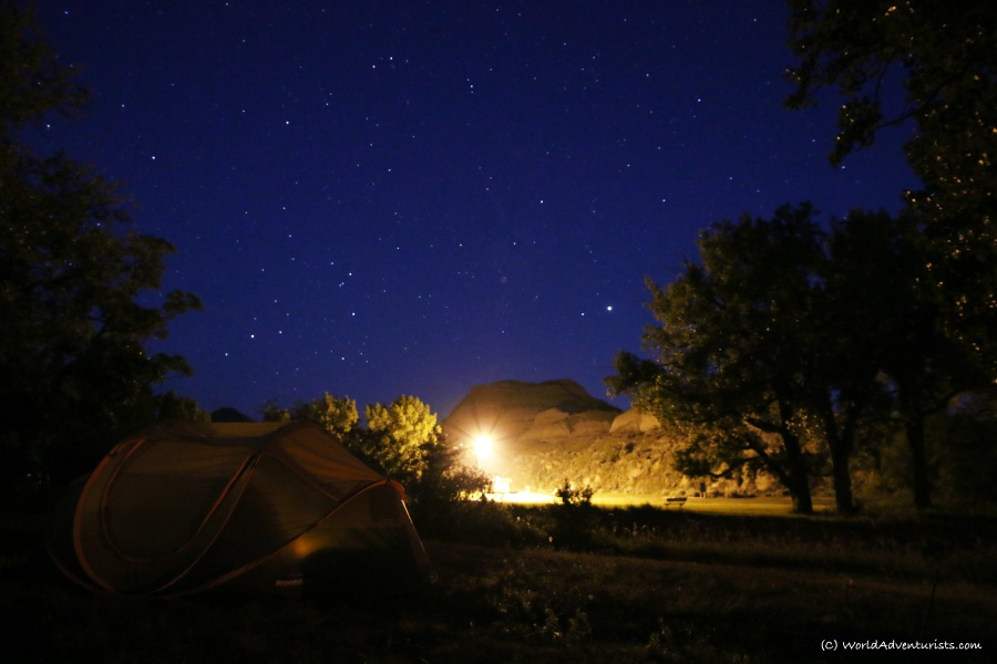 Camping under the stars at Dinosaur Provincial Park