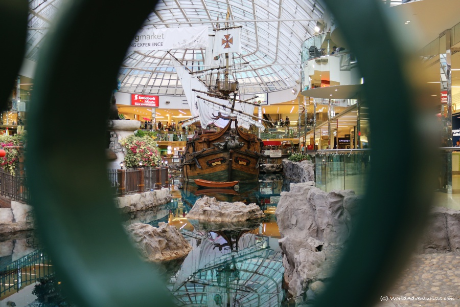 Exploring the sights at West Edmonton Mall