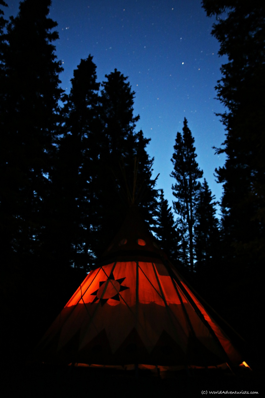 Sleeping Under The Stars In A Tipi At Sundance Lodges
