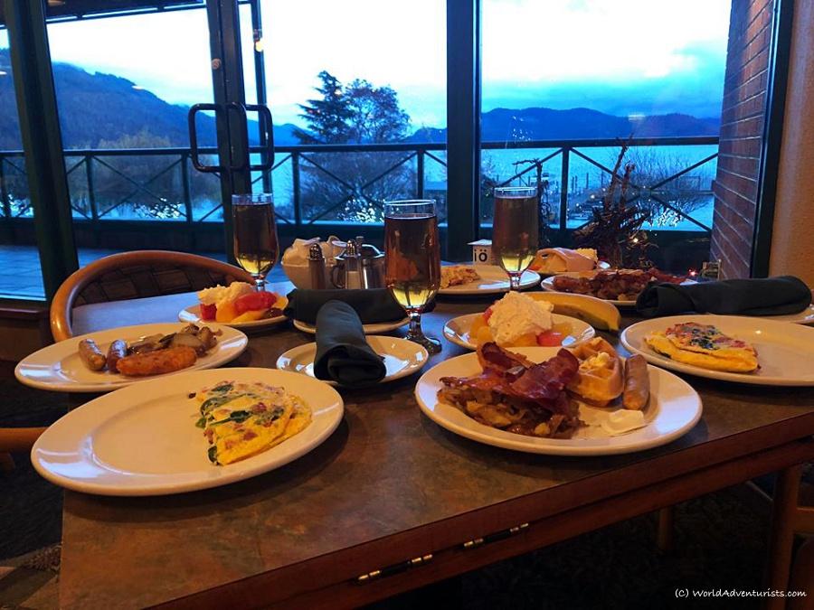 Harrison Hot Springs breakfast