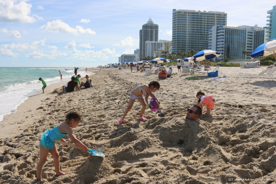 Miami Beach in Florida fit into our goal of Family Travel On A Budget