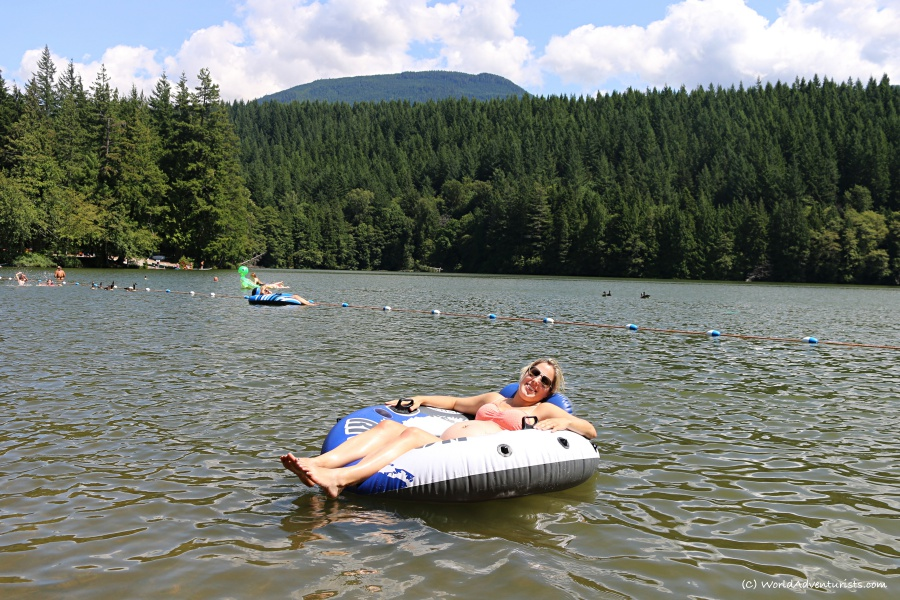 Relaxing on the water at Alice Lake in Squamish