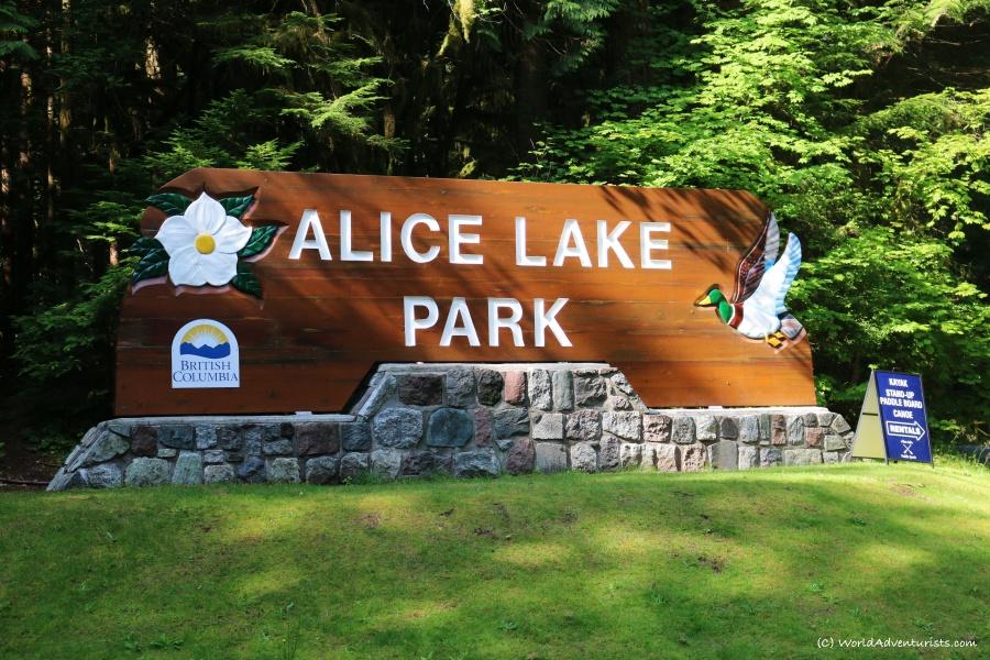 Alice Lake Park sign