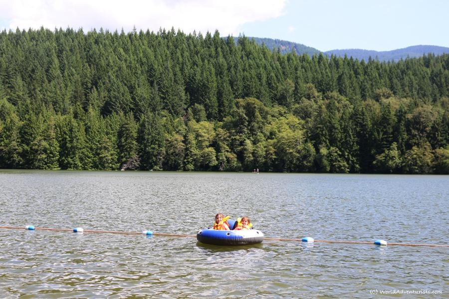 Fun in the water at Alice Lake in Squamish