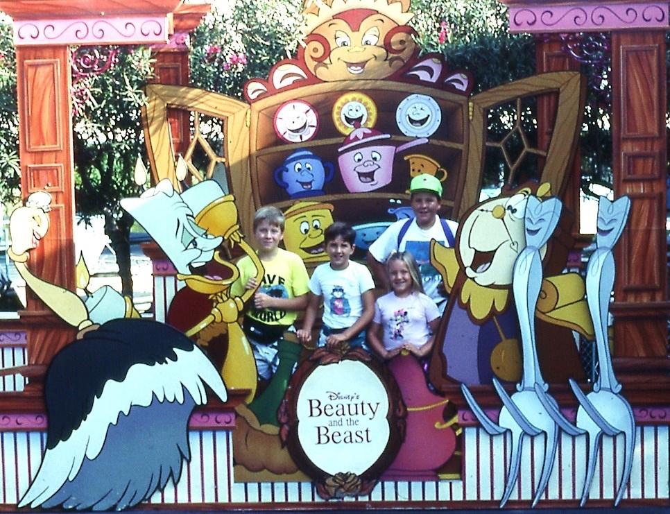 Darcy visiting Disneyland as a kid