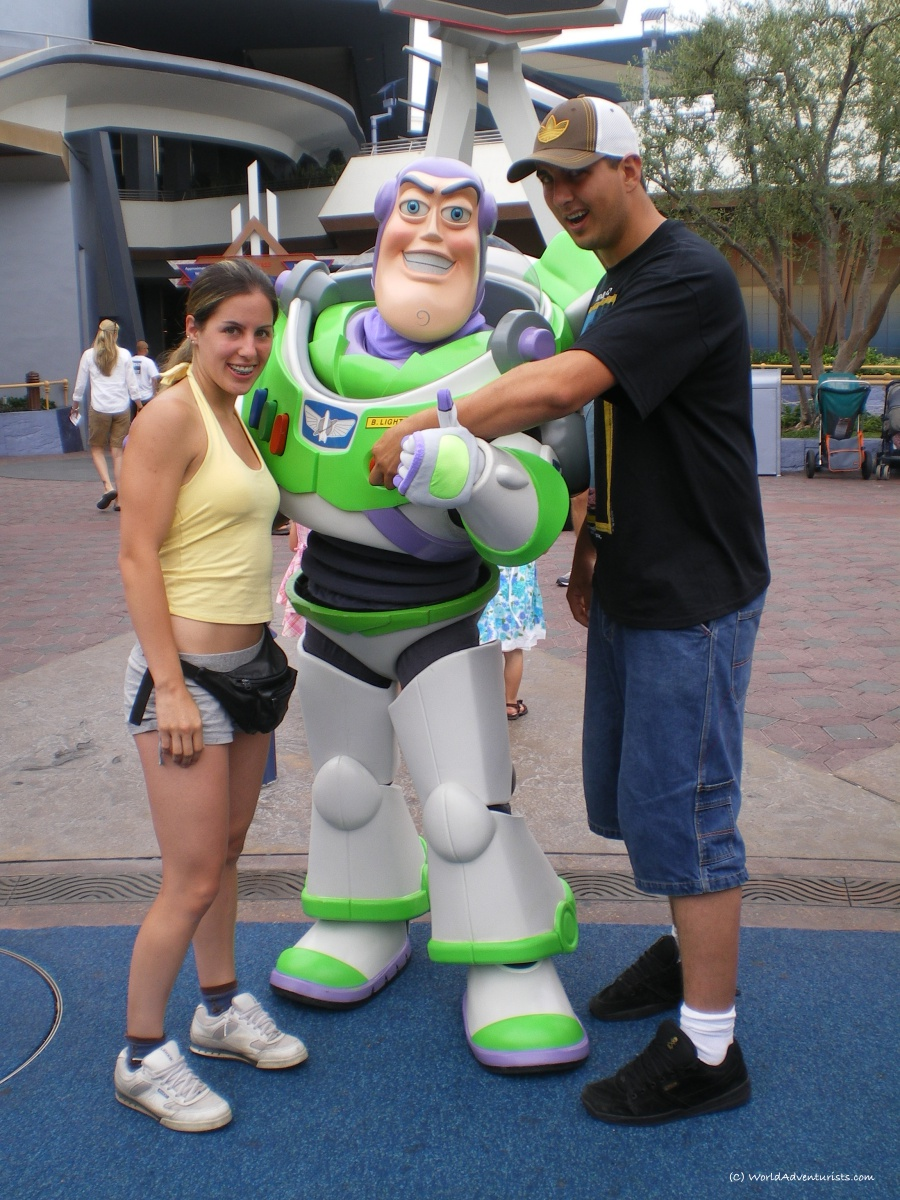 A photo with Buzz Lightyear