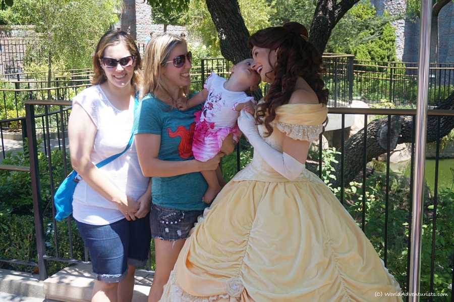 Madison giving Princess Belle a kiss