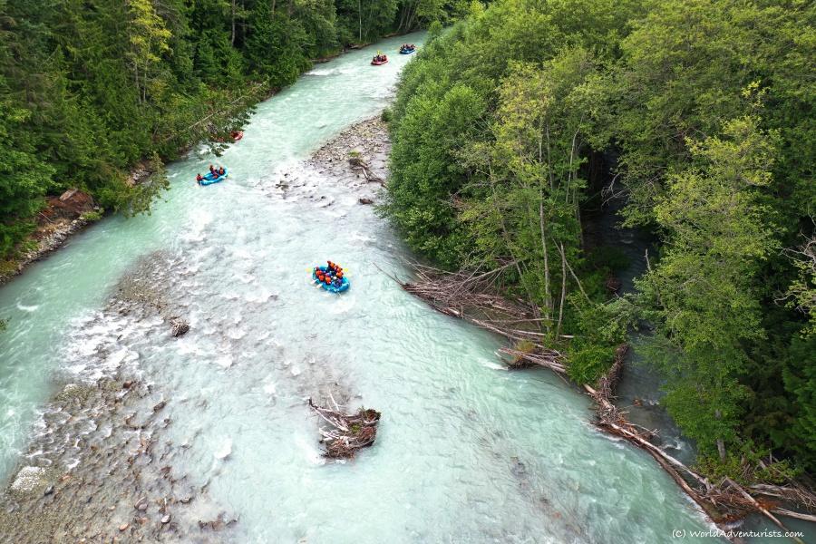 Rafting in Whistler