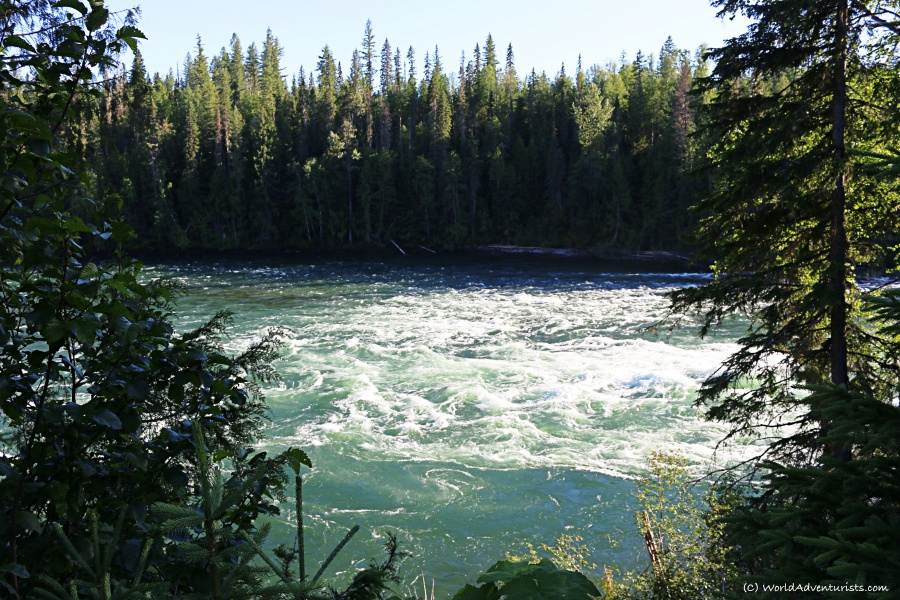 Rushing river at Wells Gray Provincial park