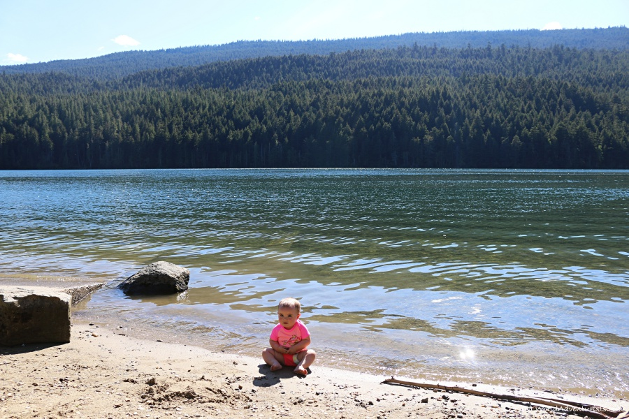 Baby at Clearwater Lake at Wells Gray Provincial Park