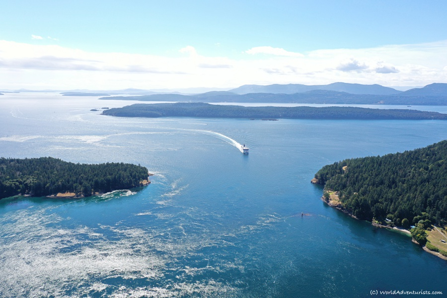Aerial views at The Bluffs on Galiano Island