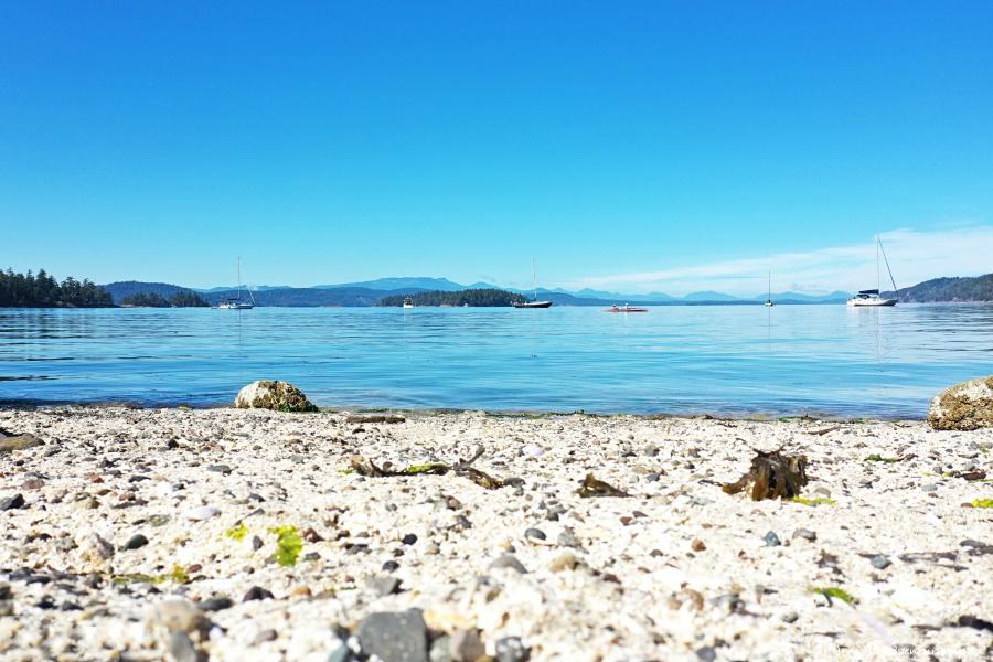 White Shell Beach on Galiano Island