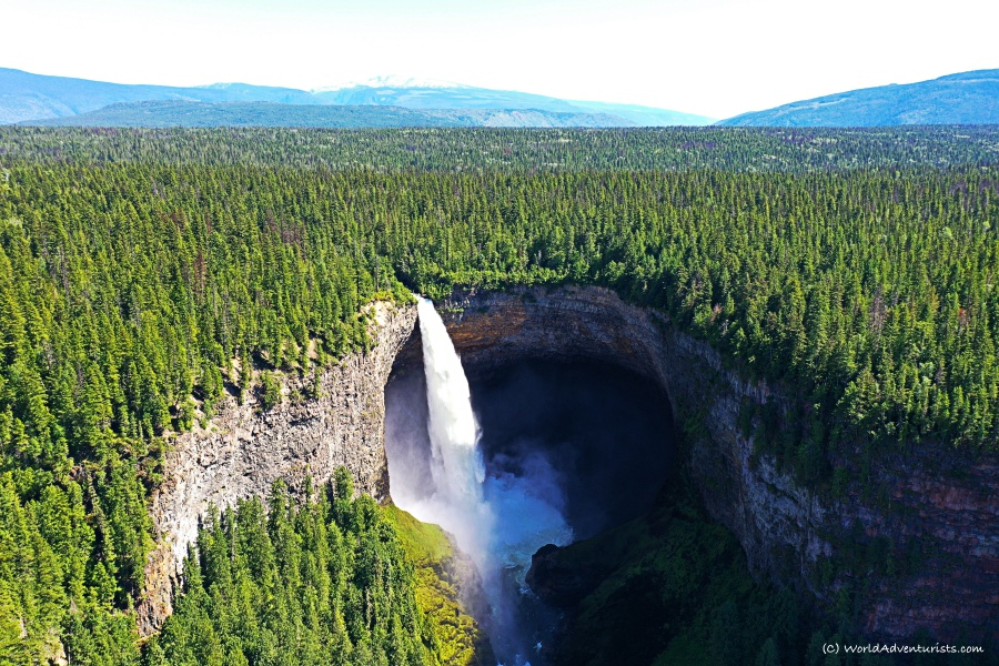 Helmcken Falls aerial view at Wells Gray Provincial park
