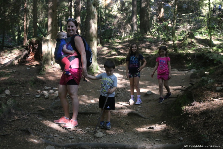 Family Hiking trail to Jug Island In Belcarra Regional Park