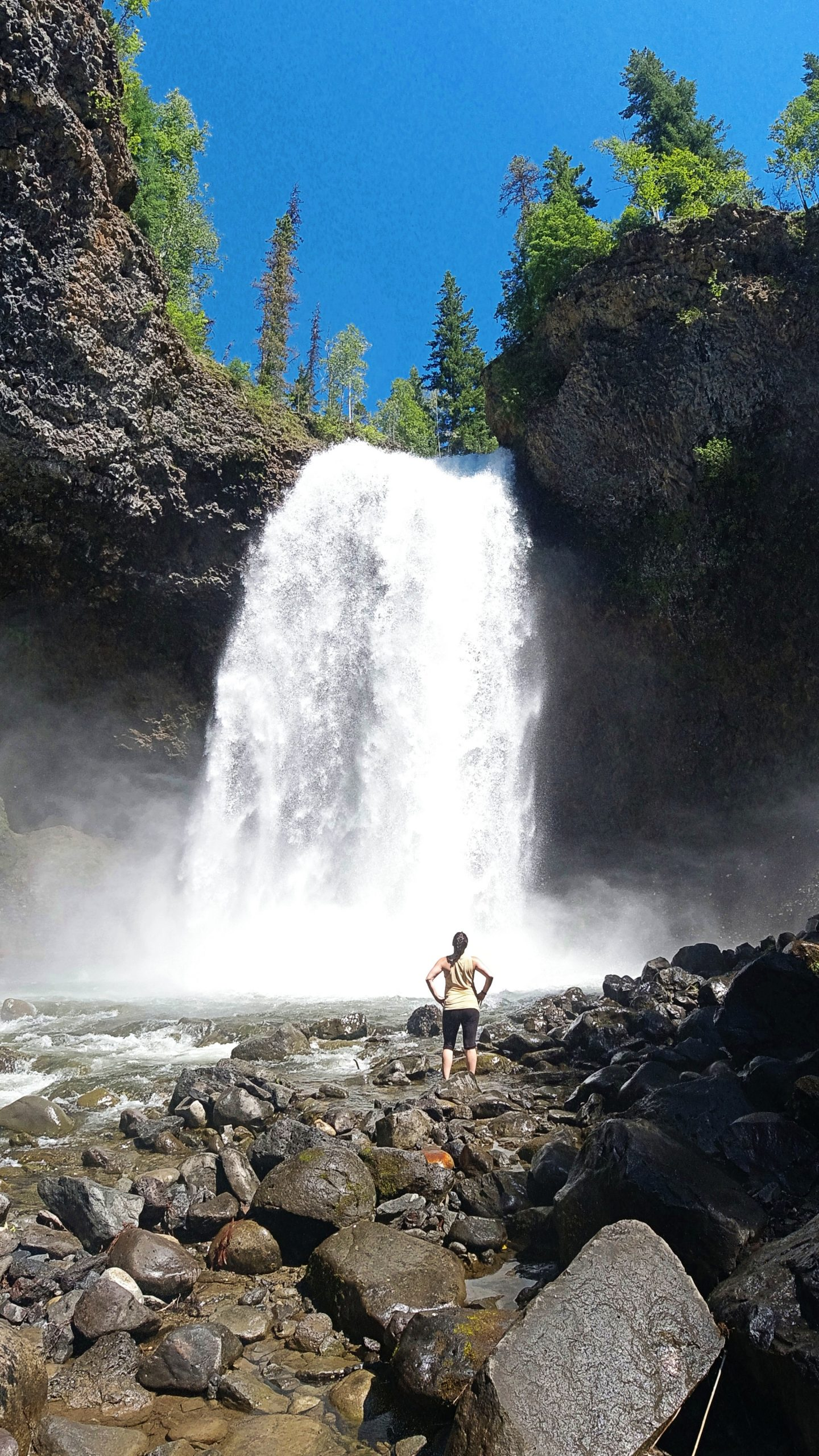 Moul Falls at Wells Gray Provincial park