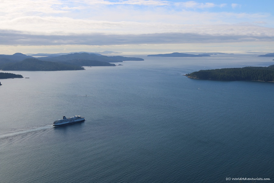 Ferry spotting on Galiano Island