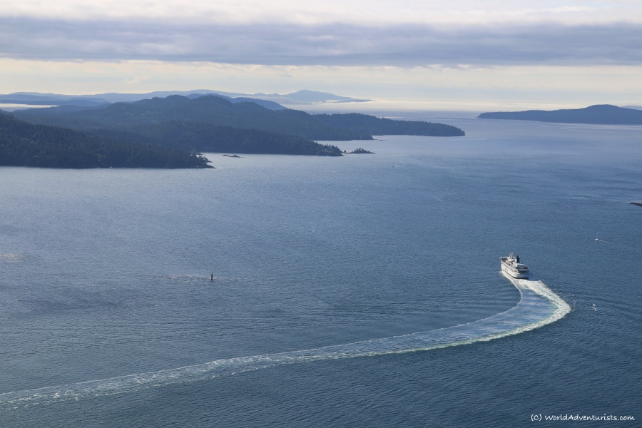 Views from Mount Galiano on Galiano Island