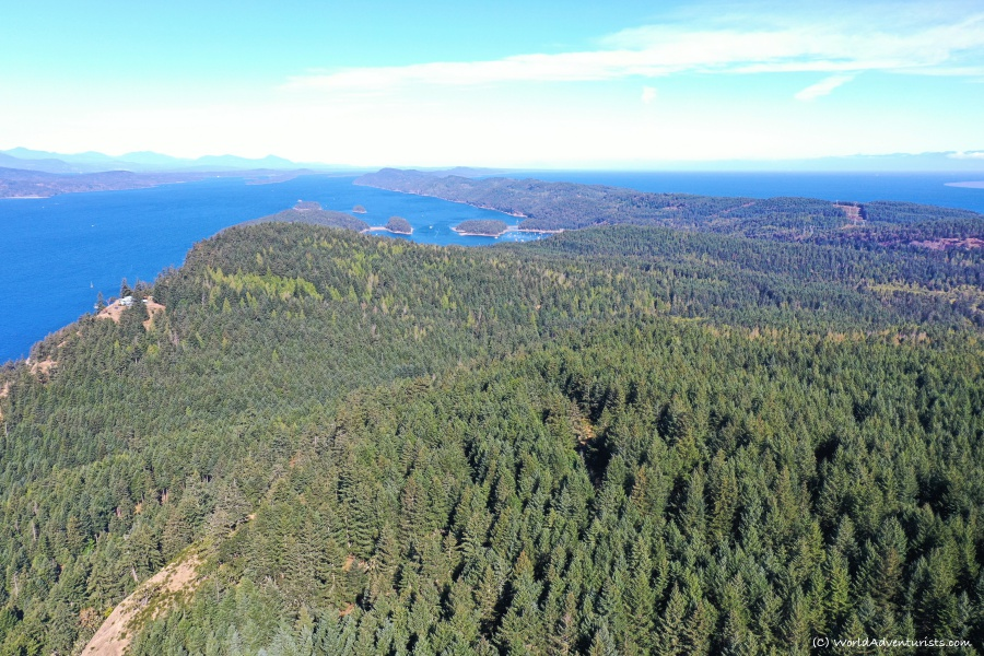Views from Mount Galiano