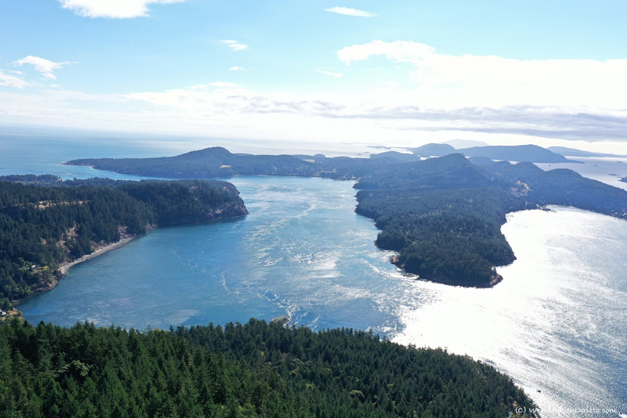 Views of the southern gulf islands from Mount Galiano