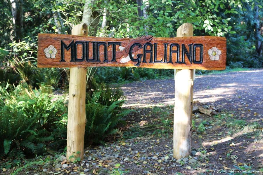Mount Galiano sign