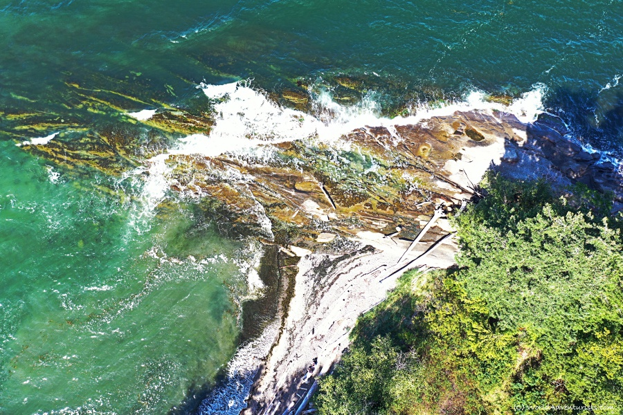 Crashing waves at Pebble Beach on Galiano Island