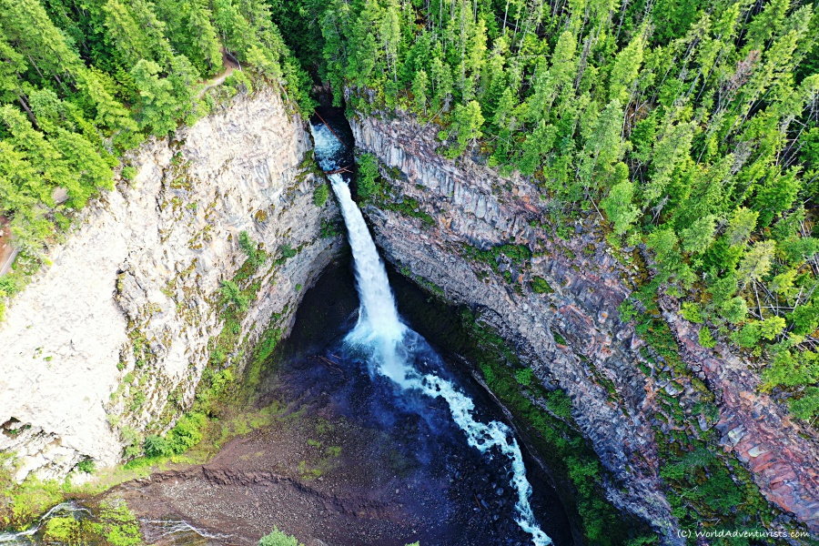 Spahats Creek Falls at Wells Gray Provincial park