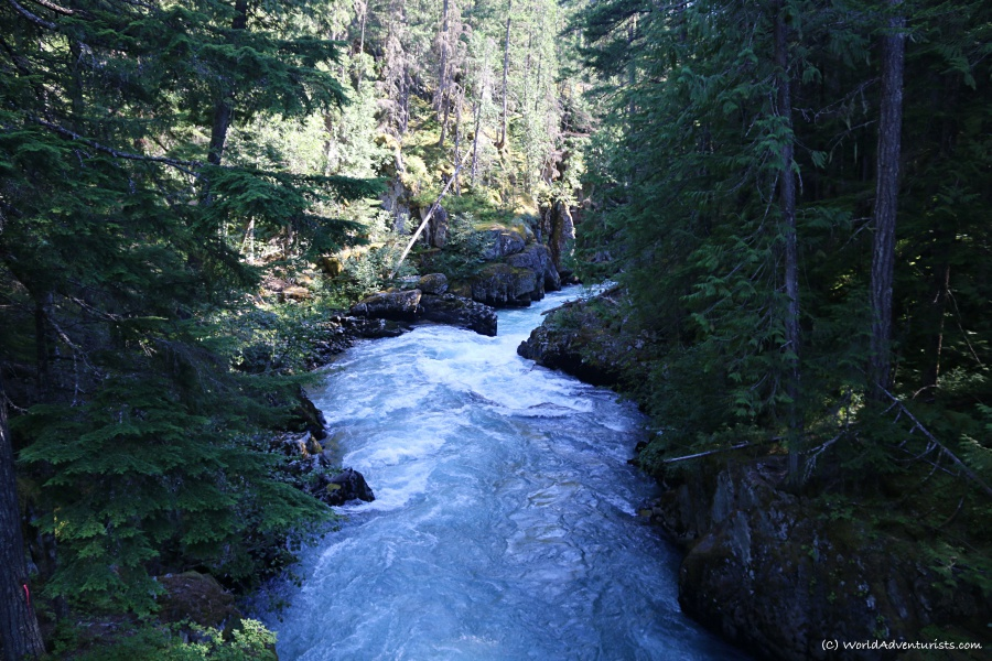 cheekamus river in Whistler