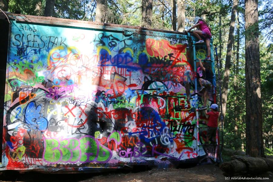Whistler train wreck box car