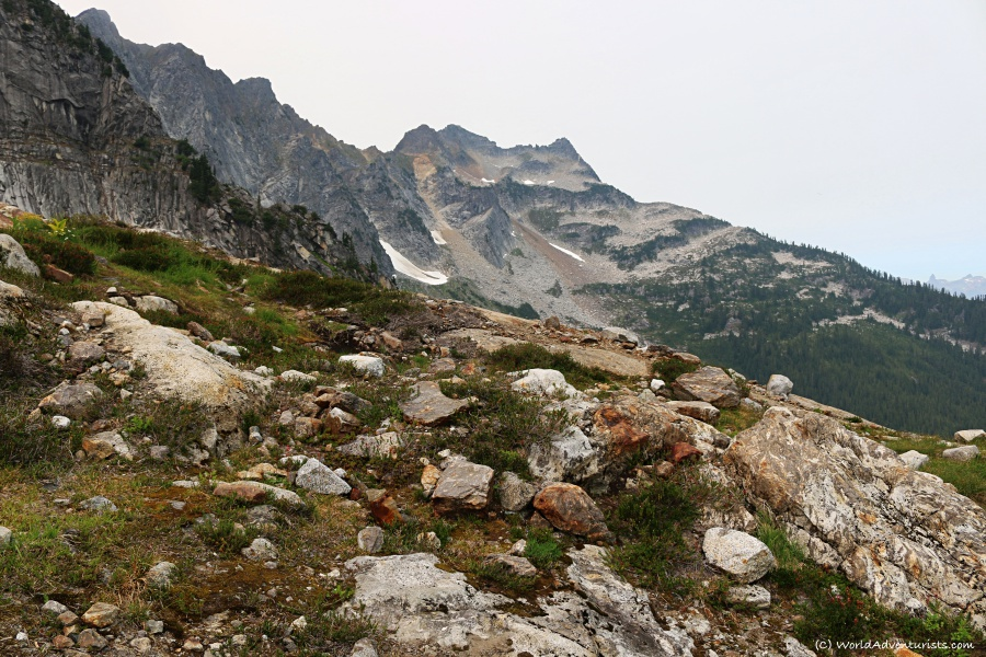 Mountain views along The Slesse Memorial Trail