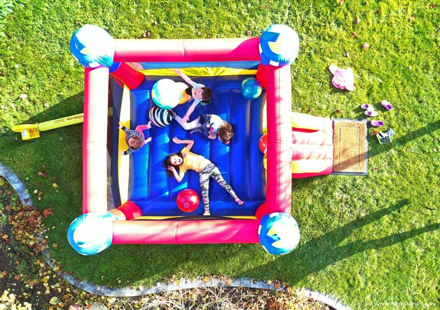 Staycation Ideas - bouncy castle